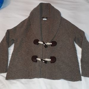 J. Crew Lambswool & Cashmere Toggle Sweater Small